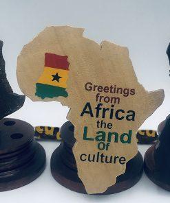 Porte stylos africain en bois