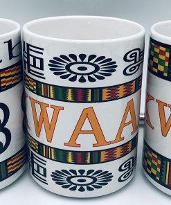 Tasses de symbole d'Adinkras Avec imprimé Kente